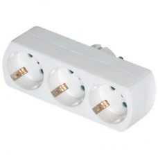 Adaptor Ρεύματος SAS 3 Θέσεων 100-15-021 Λευκός